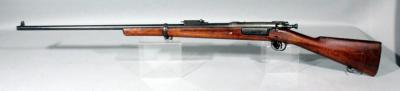 U.S. Springfield Armory Model 1898 .30-40 Krag Bolt Action Carbine Rifle SN# 281429 With Crack in Stock