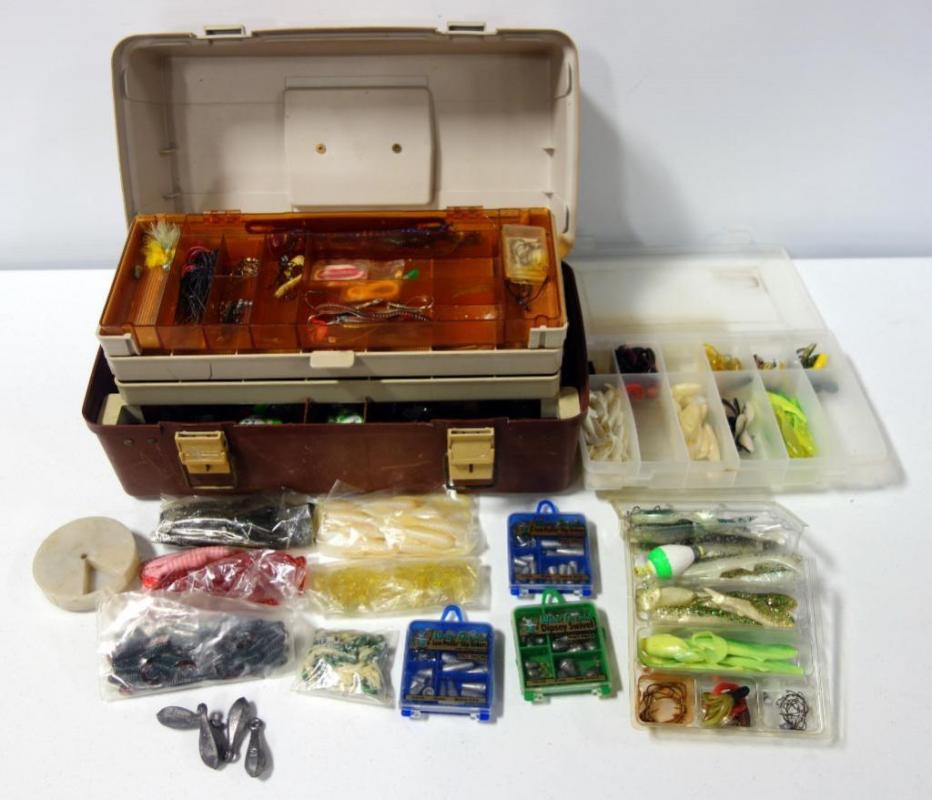 Plano Tackle Box 1530 With Lures, Bait, Hooks, Sinkers And More