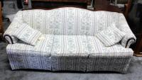"Broyhill Furniture Sofa With Floral Print And Throw Pillows 35""H x 83""W x 35""D"