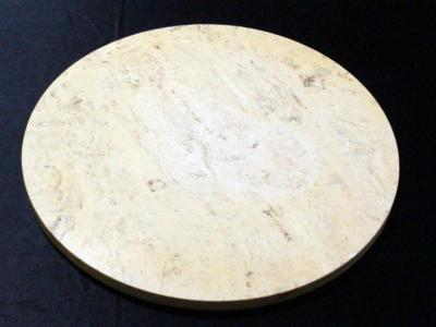 "Round Marble Table Top 20"" Dia., Some Chips"