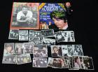 Beatles Collectibles Including Collector's Cards With Stamped Signatures, 1966 And 1969 Magazines And Doll