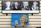 "Marilyn Monroe Print 12""H x 36.25""W Framed And Marilyn Monroe Tin Sign Promoting Lustre-Creme Shampoo 12.25""H x 16.5""W"