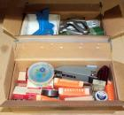 Assorted Office Supplies Including Staplers, Staples, Paper Fasteners, Lettering Tool And More