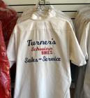 Vintage Embroidered Turner's Mechanics Sales And Service Shirts, Assorted Sizes, Qty 7