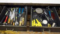 Snap-on Screw Drivers, Park Tool Hand Tools, Files And More,Contents of 2 Drawers
