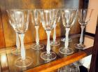 Frosted Stemmed Wine Glass Set, Quantity 8