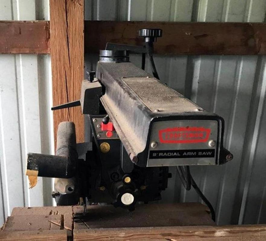 Lot 265craftsman 9 Electric Radial Arm Saw Included Instruction Manual