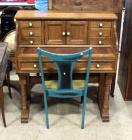 "Pennsylvania House Secretary Slide-Out Writing Desk With Dovetail Construction, 41""H x 37""W x 18""D And Painted Wood Chair With Padded Seat"