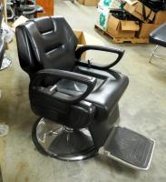 Adjustable Hydraulic Barber Chair, Missing 1 Foot Plate Wheel