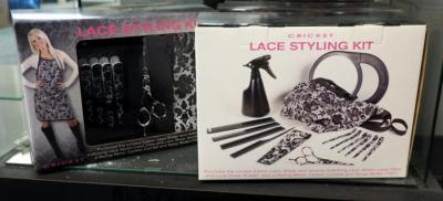Cricket Lace Styling Kits Includes Shears, Apron, Clips, Mirror and More, Qty 3