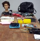 Hair Stylist Training Kits, Including Gold N Hot Ceramic Irons, Hot Tools Blow Dryer, Ninja Swordsman Shears,Pivot Point Styling Mannequin And More...