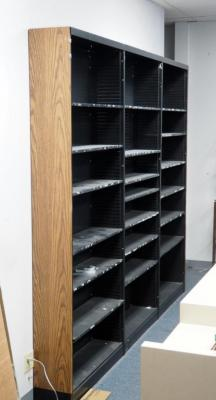 "Metal Shelving Units With Adjustable Shelves 90"" X 37"" X 10"" Qty 3 Bidder Responsible For Proper Removal"
