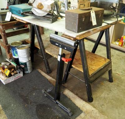 Metal Saw Horses Qty 2 And Wolf Craft Material Handling Stand