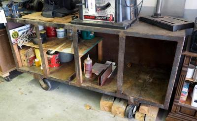 "Rolling Metal Shop Cabinet, 36"" x 70"" x 24"", Top Contents Not Included, Bidder Responsible For Proper Removal, Second Day Load Out Only"