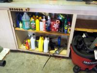 Automobile Oil, Anti Freezer, Grease, Grease Guns, Lubricants And More, Contents Of 2 Shelves