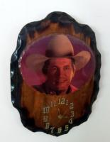 "George Strait Western Wood Battery Powered Wall Clock, 16"" x 12"""