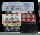 1976 United States Coin Proof Set in Case, 1986 Uncirculated Coin Set With D And P Marks And 1998 Uncirculated Coin Sets (2) With D And P Marks