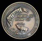 "National Hunting And Fishing Day 1972 Commemorative Bronze Coin, 2.5""Dia"