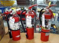 Amerex And Sentry Fire Extinguishers, Qty 3