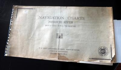 1961 Vintage Missouri Navigation Chart Map Book Including....Wyandotte To Clay,