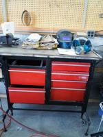 "Craftsman 6 Drawer Tool Chest Converted Into Welding Table 43"" X 55"" X 24"" Contents Not Included"
