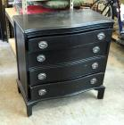 "Antique Solid Wood Chest Of Drawers With 4 Dovetail Drawers, 31"" x 30"" x 16"""