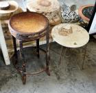 "Vintage Metal Stool, 24"" Tall And Vanity Chair, 23"" Tall"