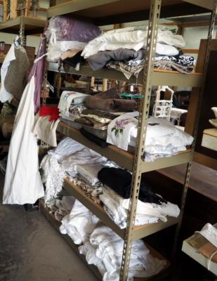Table Clothes, Table Pad, Placemats, Linens, Drapery, And More, Contents Of Storage Rack, Rack Not Included