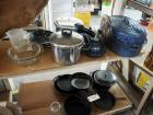 Cook Ware Including Pyrex Serving Bowls, Presto Pressure Cooker, Enamel Roaster And More, Qty 10