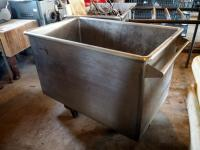 "Rolling Stainless Steel Bulk Box Cart, 38"" X 33"" X 52"", Contents Not Included"