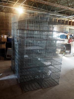"Metal Cage Cooler Crates, 9"" X 21"" X 17"", Qty 38"