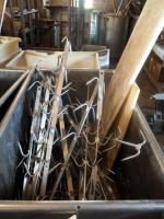 "42"" Stainless Steel Butcher Hooks Qty Approx. 25, Includes Commercial Cutting Boards, Cart Not Included"