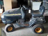 PoulanPro Gas Powered Riding Lawn Tractor, Needs Repair, Missing Cutting Deck