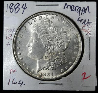 1884 Morgan Silver Dollar, Uncirculated