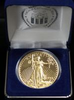 1933 Double Eagle 14 mg 24K Gold Clad Tribute Proof, Non-Monetary $20 Coin, In National Collectors Mint Case, See Description