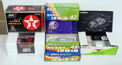 Kenny Irwin 1:24 Diecast #42 BellSouth (2) & BellSouth Mobility 2000 Monte Carlo, #28 1998 Texaco Ford Taurus w/Display Case And COA, Total Qty 4