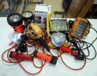 Collection Of Shop Lights And Flashlights, Various Sizes