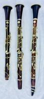 Antique Buffet Clarinets, Qty 3, Including Antique Instrument Case, Marked Made In France, Some Parts Missing