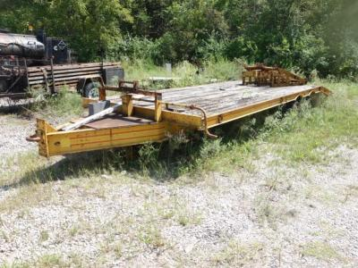 "Yellow Trailer, 20' Bed Plus 5'4"" End Ramps, 5'5"" Tongue, Comes With Pair Of Loose 5'6"" Ramps, Has Sat For A While, Be Prepared For Any Tire Issues"