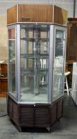 "Traulsen Refrigerated Revolving Hexagon Pie/Display Case, 4 Wire Shelves, 76""H x 35""W, Powers On"