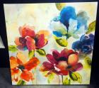 "Canvas Print Depicting Floral Image, On Stretcher 35"" Wide x 35"" High"