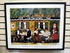 "Guy Buffet (French 1943-)""Cafe La Provence"" Framed Print, 29"" Wide x 23"" High"