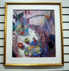 "Framed Print On Board, Depicting Still Life Scene, 21.5"" Wide x 23.5"" High"