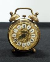 Linden Vintage Gold Toned Alarm Clock, Made In West Germany
