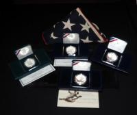 Commemorative US Mint Silver Dollar Coin Collection, Incl. Jackie Robinson, Law Enforcement, Black Revolutionary War And More...