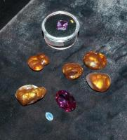 Precious Stone Assortment Including Amethyst, Agatha And More Qty 8