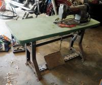 "Consew Industrial Sewing Machine, Model 226, Knee Peddle And Foot Treadle,  38"" X 48"" X 20"", Walking Foot Machine"