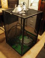 "Aluminum Framed Reptile Cages With Screen Panels,  Qty. 2,  36""X 24"" X 25"" Includes 2 Warming Lamps"