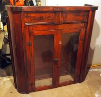 "Architectural Salvage From ""The Muehlbach Hotel"" Kansas City Mo, Solid Wood Bar Cabinets W/ Glass Doors, Includes Some Shelves, 47"" X 46"" X 15"" Qty 2"