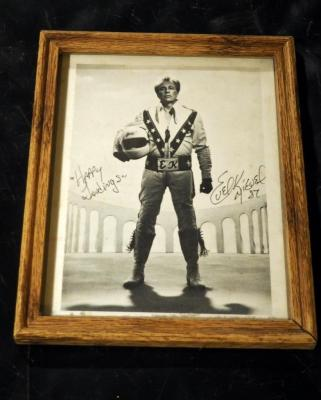 Evel Knievel Framed Autographed Photograph